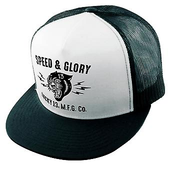 Lucky 13 unisex Trucker Cap the Panther Head black/white