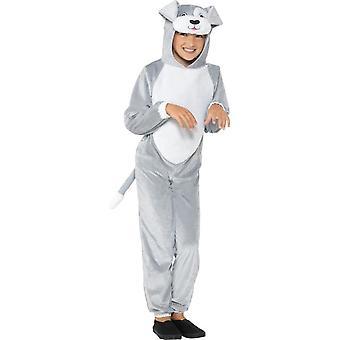 犬の衣装、子供の動物デザインの凝った服、大きな年齢 10-12