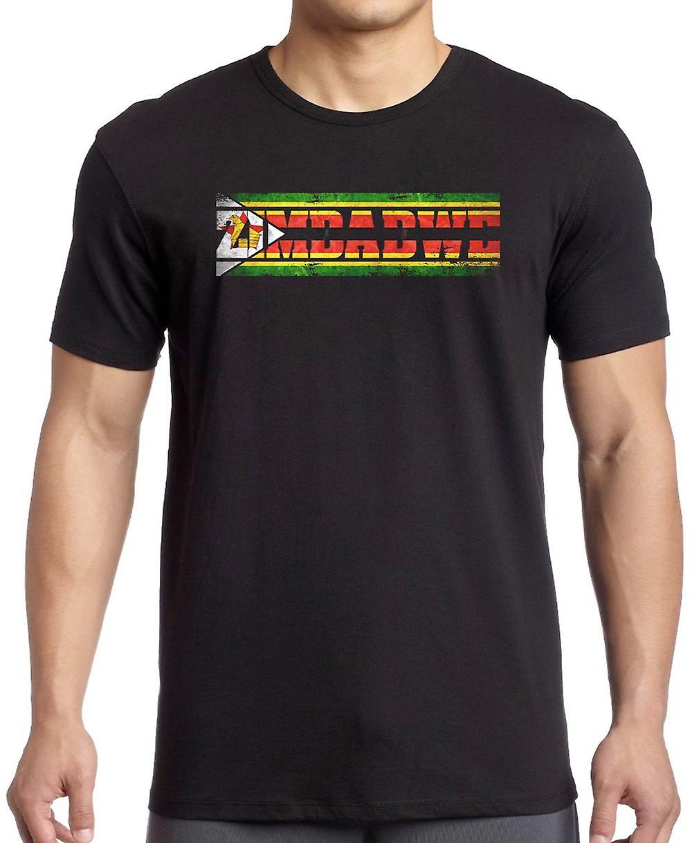 Zimbabwe Flag - Words T Shirt  - 4xl
