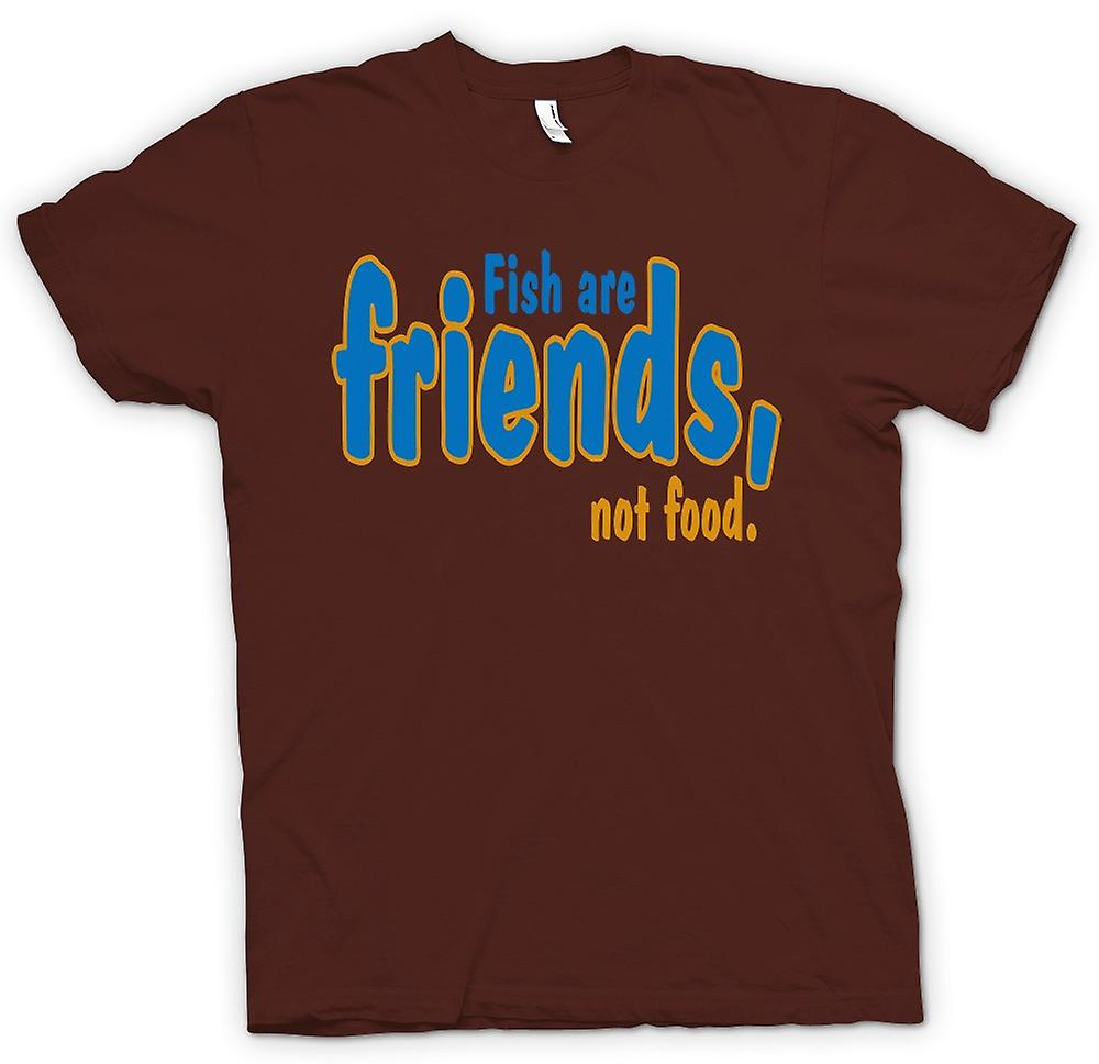 Mens T-shirt - Fish Are Friends, Not Food - Funny Quote