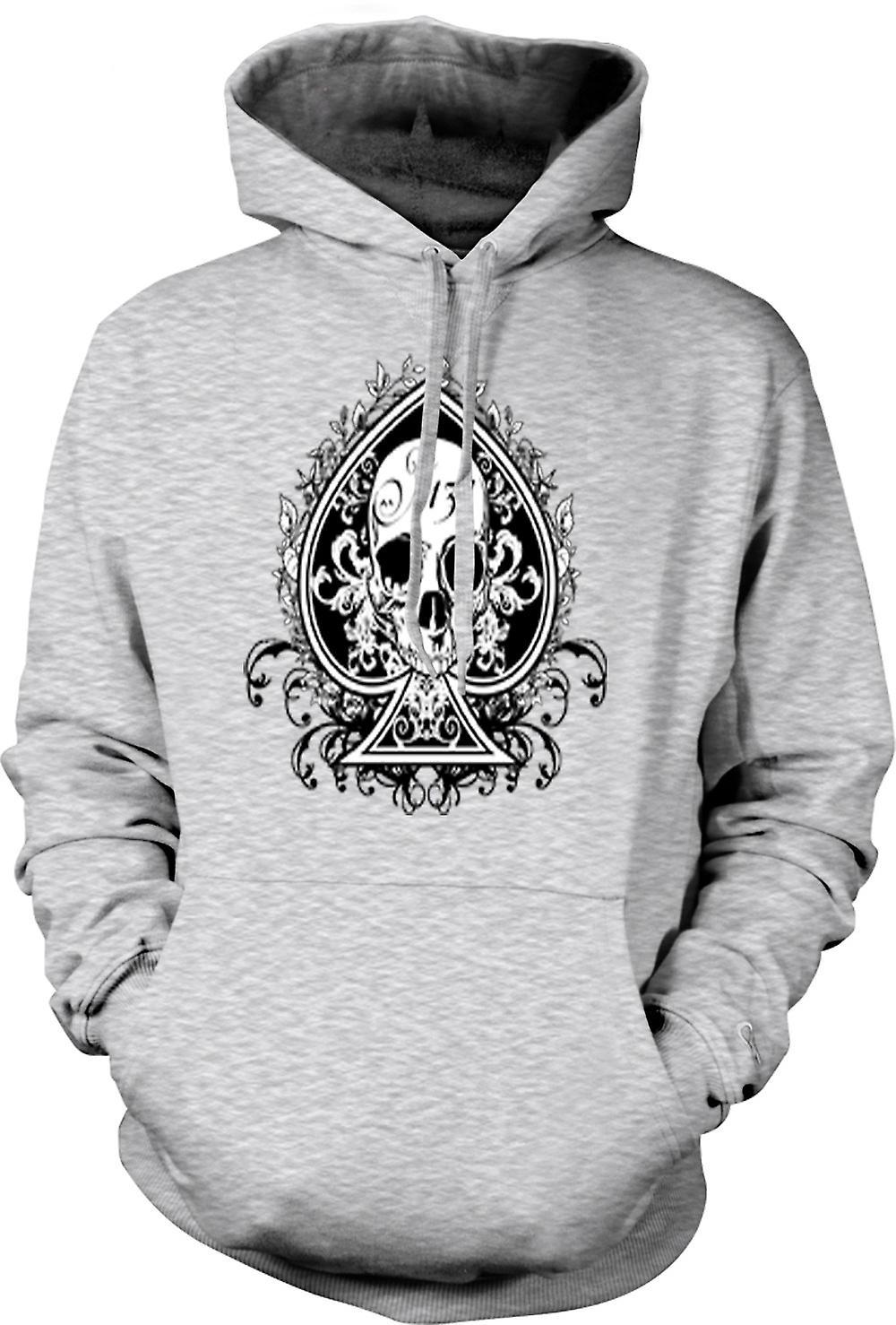 Herren Hoodie - Skull uns Biker Ace Of Spades