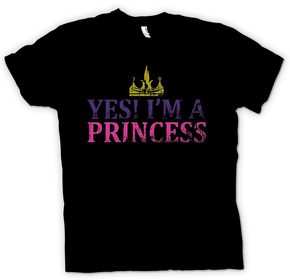 Womens T-shirt - Yes Im A Princess - Funny