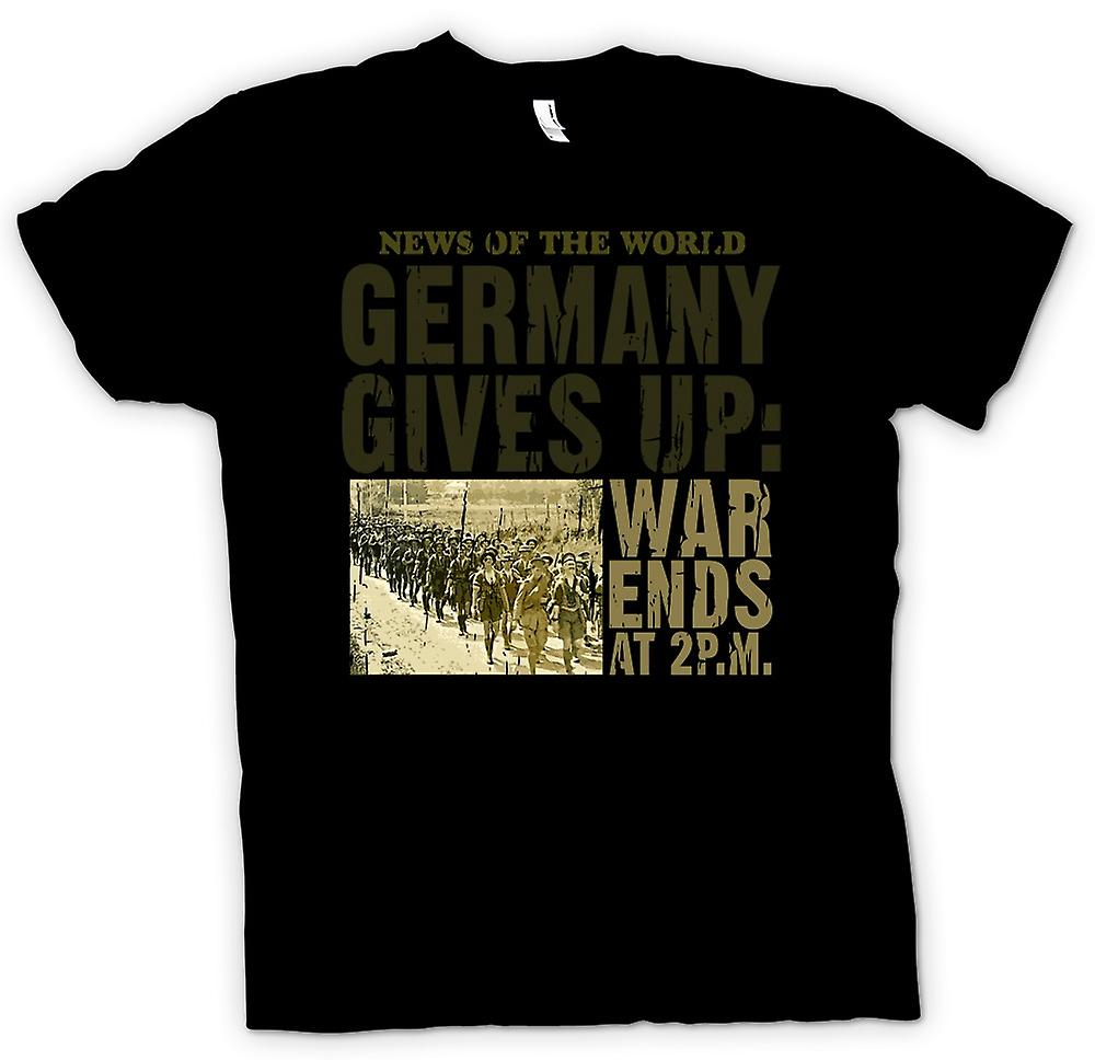 Womens T-shirt - Germany Gives Up - War Ends