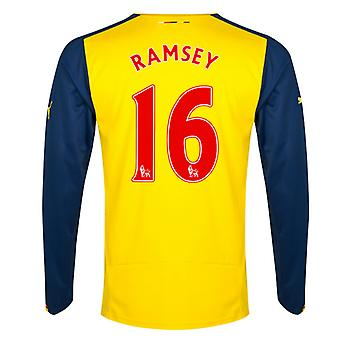 2014-15 Arsenal Long Sleeve Away Shirt (Ramsey 16)