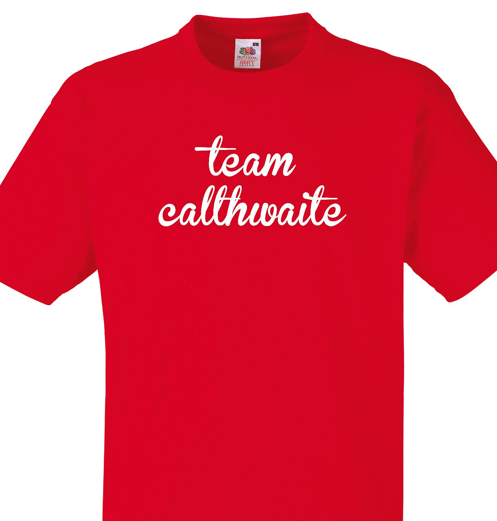 Team Calthwaite Red T shirt