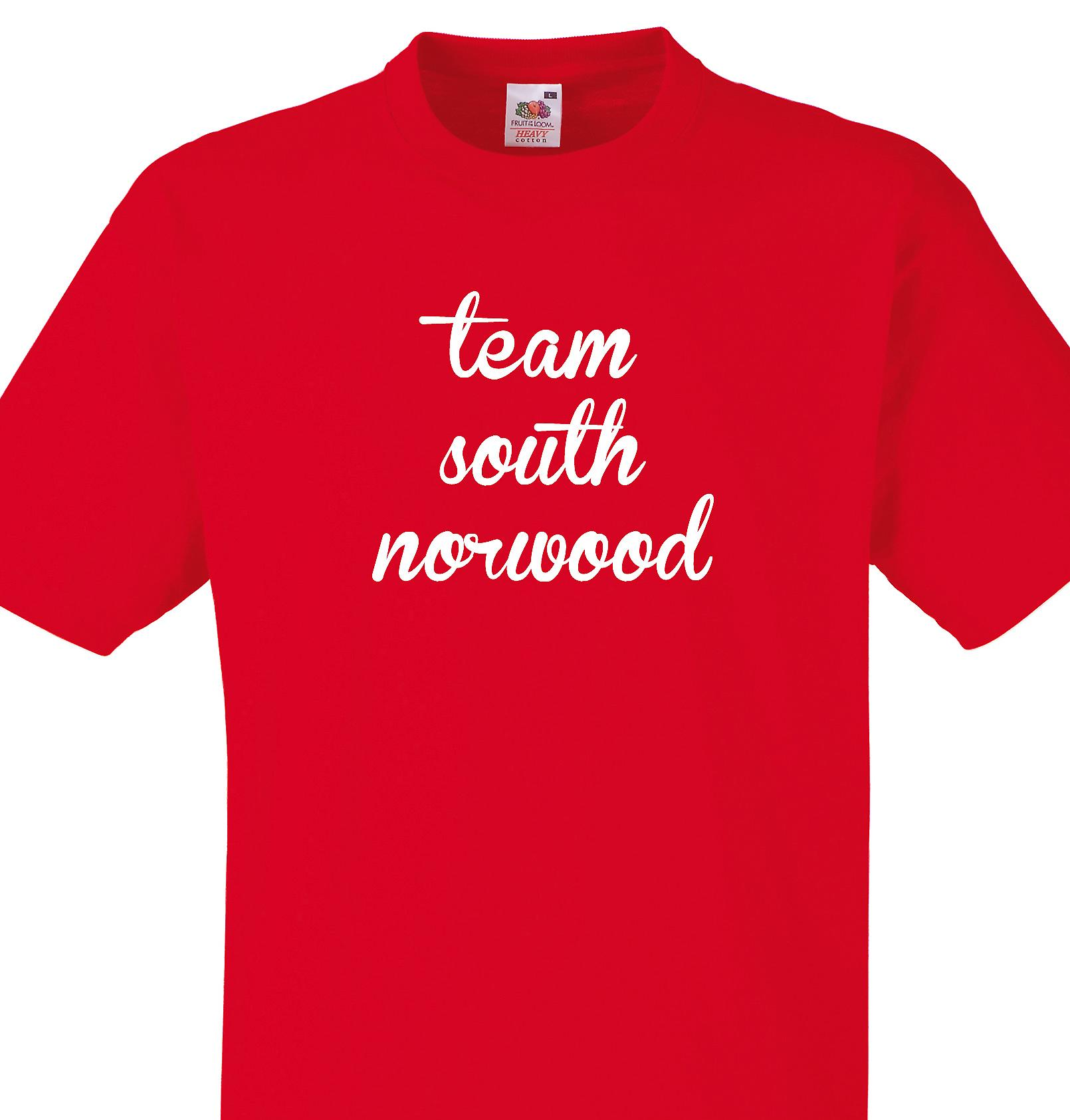 Team South norwood Red T shirt