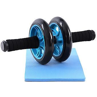 Appareil abdominal bleu AB roller AB wheel + tapis 0712008