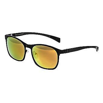 Breed Halley Titanium Polarized Sunglasses - Black/Red-Yellow
