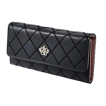 Women's wallet with Pattern and gold-colored Crown