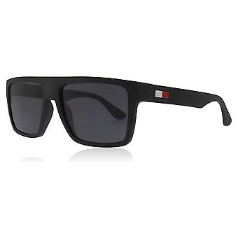 Tommy Hilfiger TH1605/S 003 Matte Black TH1605/S Square Sunglasses Lens Category 3 Size 56mm