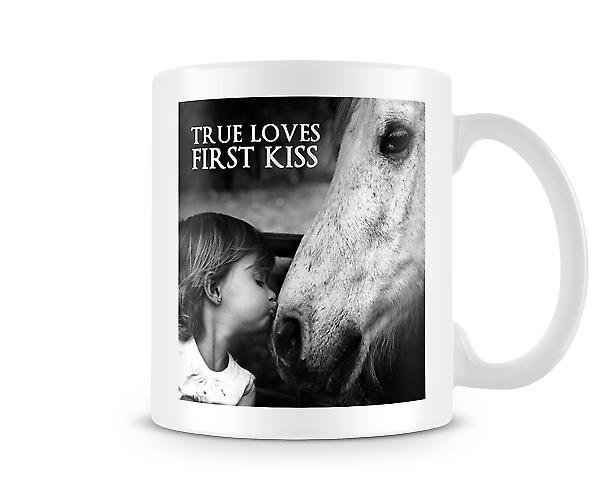 True Loves First Kiss Child And Pony Girl And Horse Mug
