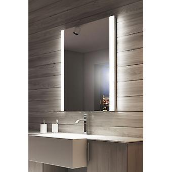 RGB doble borde de espejo de baño con enchufe de máquina de afeitar k1115vrgb