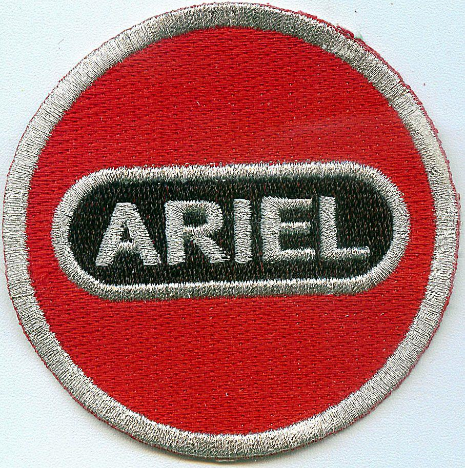 Ariel Motorcycles iron-on/sew-on cloth patch  (ff round)