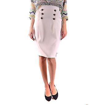 Elisabetta Franchi White Polyester Skirt