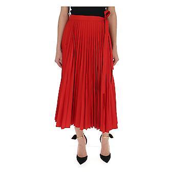 Valentino Red Cotton Skirt