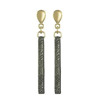 Eternal Collection Impressions Matte Two Tone Drop Clip On Earrings