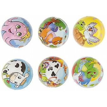 2 afgedrukt spons Play Ball 7 5 Cm Fun Cartoon vrienden Design (024010)