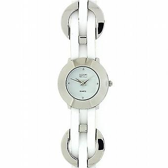 Eton Braided Rings White Dial White Strap Ladies Fashion Watch 2903L