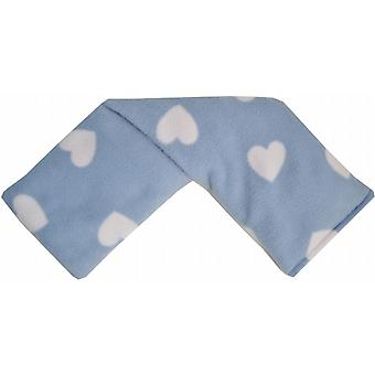 Cotswold Lavender Fleece Wheat Bag: Blue Hearts
