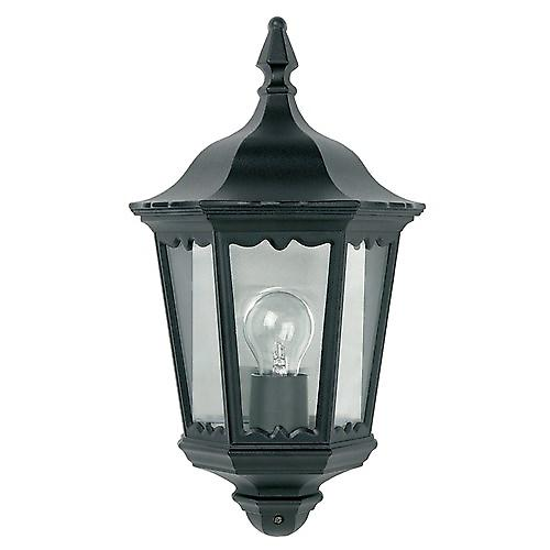 Endon YG-3002 Traditional Black Aluminium Outdoor 6-Sided Flush Wall Lantern