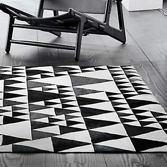 Rugs - Linie Pyramid Leather - White & Black