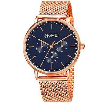 Men's August Steiner AS8255RGBU Multifunction Stainless Steel Mesh Watch