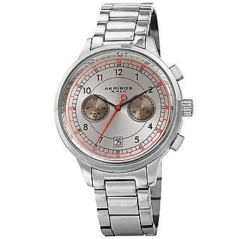 Akribos XXIV AK1071SS Chronograph Dual Time Stainless Steel Bracelet Watch