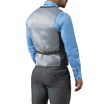 Avail London Mens Grey Waistcoat Slim Fit