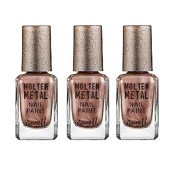 Barry M 3 X Barry M Molten Metal Nail Paint  - Pink Ice