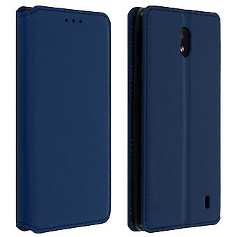 Slim Case, Classic Edition stand case with card slot for Nokia 1 Plus - Blue