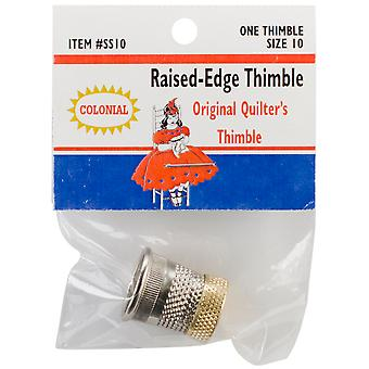 Raised Edge Thimble Size 10 Sst 10