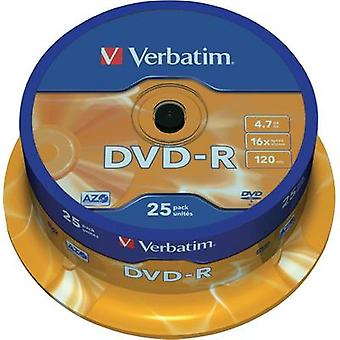 Blank DVD-R 4.7 GB Verbatim 43522 25 pc(s) Spindle Anti-scratch coating