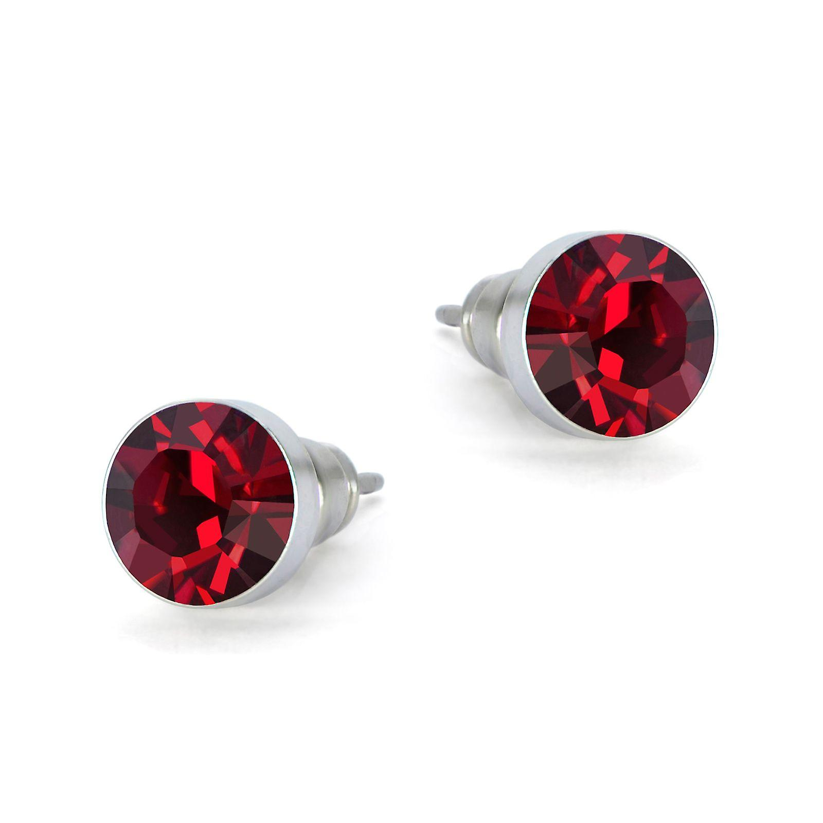 Red Swarovski earrings EMB8.5