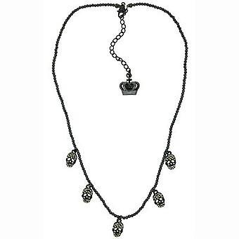 Butler & Wilson 5 Crystal Skulls Delicate Beaded Necklace