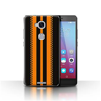 STUFF4 Case/Cover for Huawei Honor 5X/GR5/Japanese/Black/Racing Car Stripes