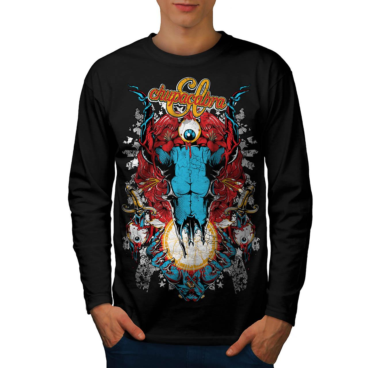 Chupacabra Demon Hell King Satan Men Black Long Sleeve T-shirt | Wellcoda