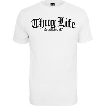 Mister Tee Shirt - THUG LIFE OLD ENGLISH weiß