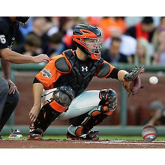 Buster Posey 2015 Action Photo Print