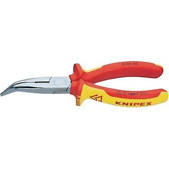 Knipex 25 26 160 Bent VDE Snipe Nose Side Cutting Pliers (Radio Pliers) 160 mm