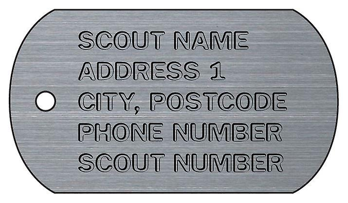 Personalised Scouts Dog Tag Car Air Freshener