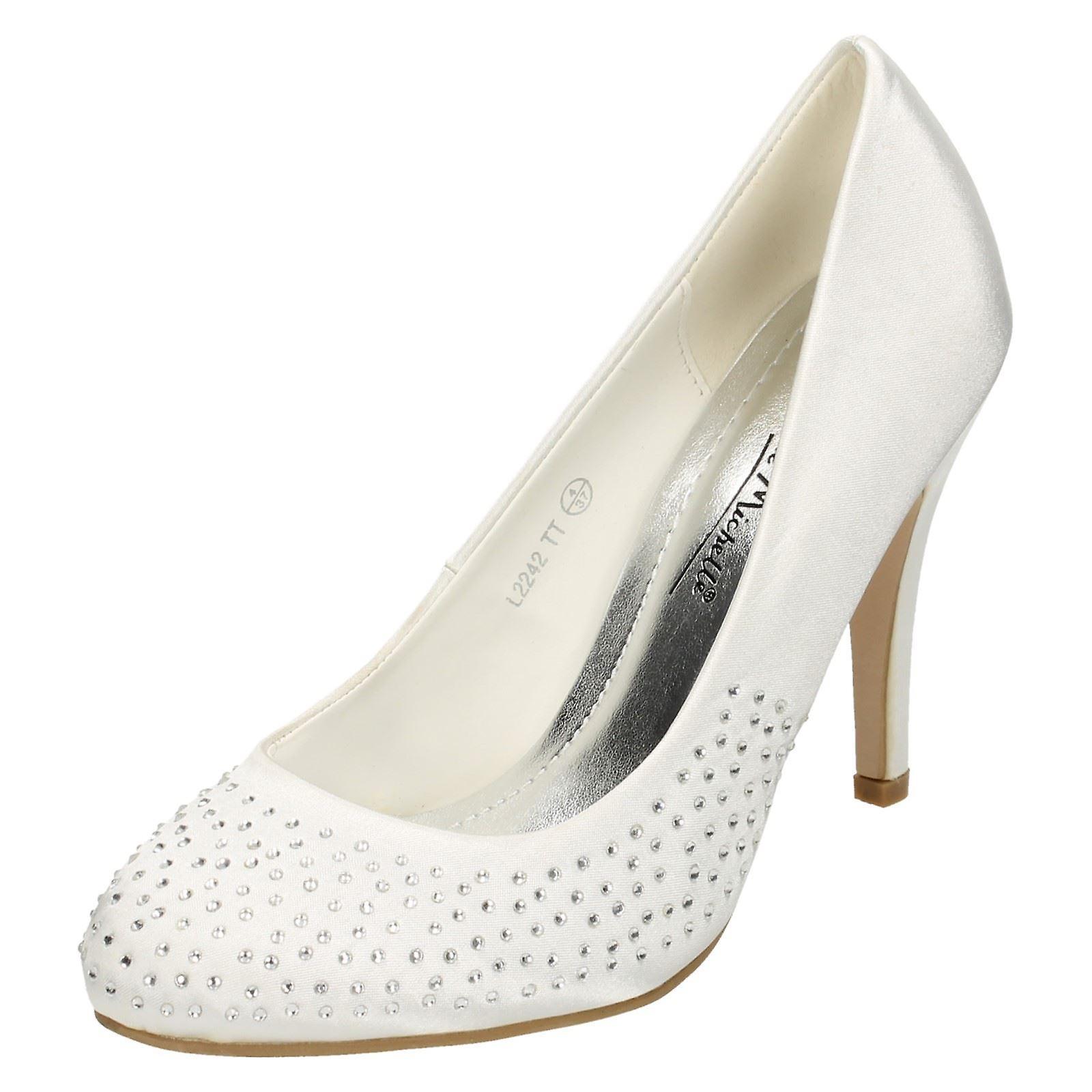 Damen Anne Michelle Diamante Gericht Schuhe L2242