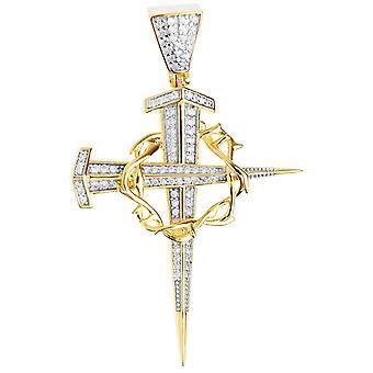 Premium Bling - Cruz colgante oro plata 925