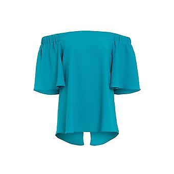 Love2dress Women's Party Elasticated Blue Bardot Top UK SIZE 12