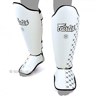 Fairtex Muay Thai Shin Guards - White