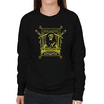 Game Of Thrones hus Lannister gyldne løver høre os brøl kvinders Sweatshirt