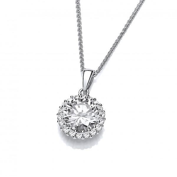Cavendish French Shine Bright like a Diamond Silver and CZ Pendant without Chain