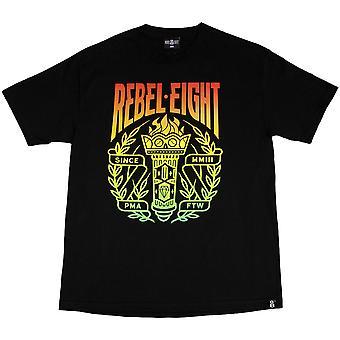Rebel8 antorcha camiseta negro