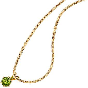 Pendant green Peridot pendant 585 Gold Yellow Gold 1 Peridot Green