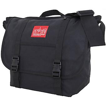 Manhattan Portage Waxed Canvas Messenger Bag - Black