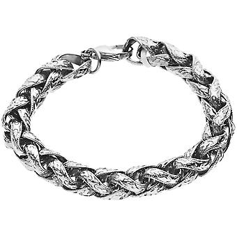 Master stainless steel antique retro bracelet - 10mm silver